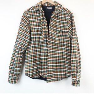 Steven Alan Lined Insulated Flannel Shirt Jacket